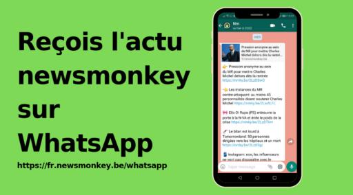 Reçois l'actu newsmonkey sur WhatsApp