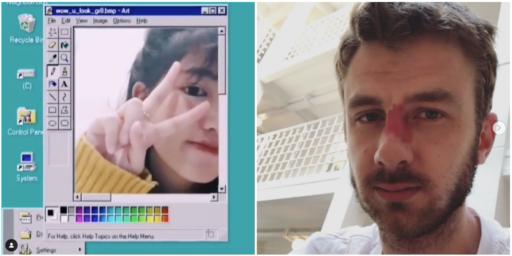Masques du futur, Windows 98 et Jean-Luc Reichmann: les influenceurs sont forts pour créer des filtres Instagram