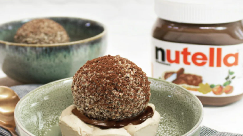 Dès maintenant chez Balls & Glory: la Tiramisu Ball au Nutella (sans viande)