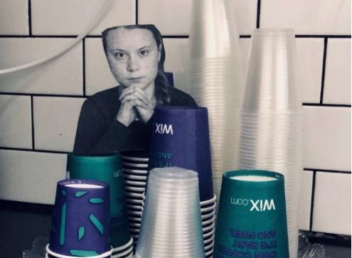 Dans les open-spaces israëliens, Greta Thunberg est là pour t'empêcher d'utiliser du plastique