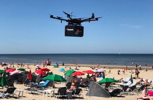 Une Margarita sur la plage? Domino's teste la livraison de pizzas par drone aux Pays-Bas