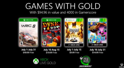 Game with Gold: et voici les 4 jeux gratuits du mois de juillet pour les abonnés