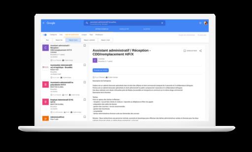 Google facilite la vie des chercheurs d'emploi sur son moteur de recherche