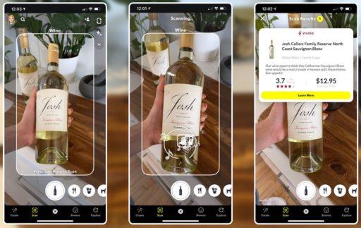 Snapchat s'associe à Vivino et permet de choisir la bouteille de vin idéale