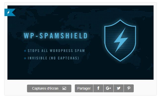 plugins Anti Spam gratuit pour WordPress