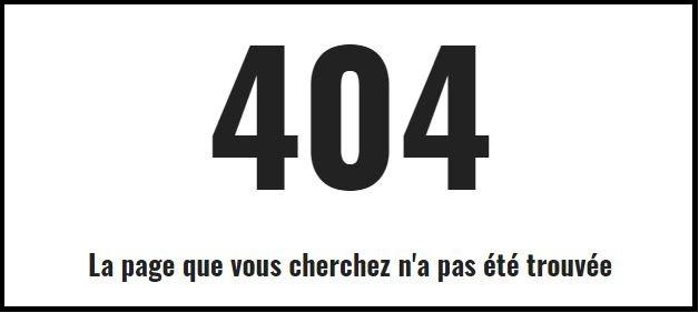 Pages HTML : 404 et autres erreurs