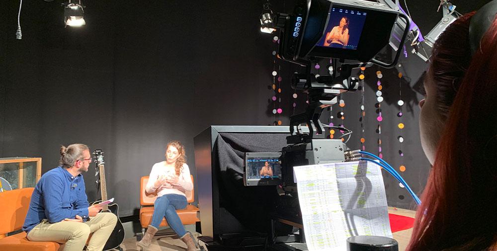 Cámara de estudio URSA Broadcast de Blackmagic