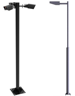 Postes modulares para soluciones de iluminación y videovigilancia