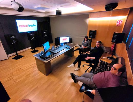 instalación de monitores Genelec