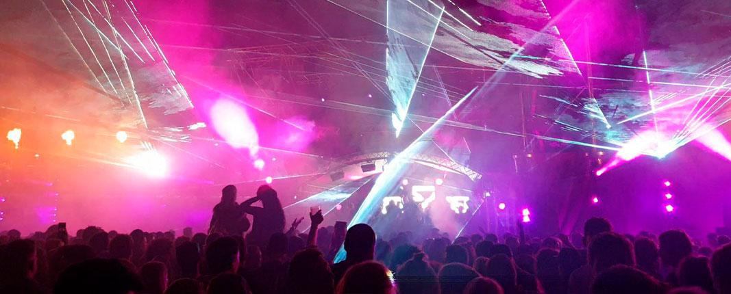 Equipos de iluminación láser para espectáculos