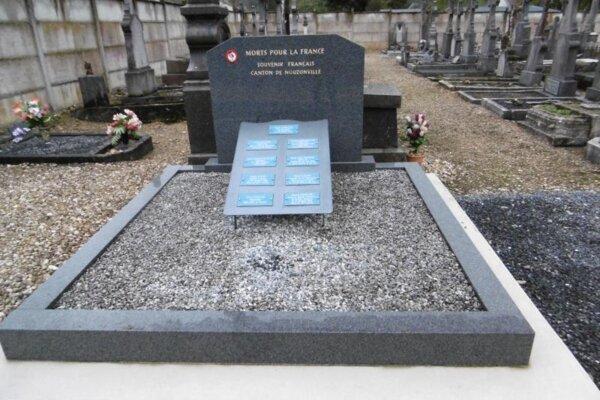 tombe morts pour la France hommage souvenir      tombe morts pour la France