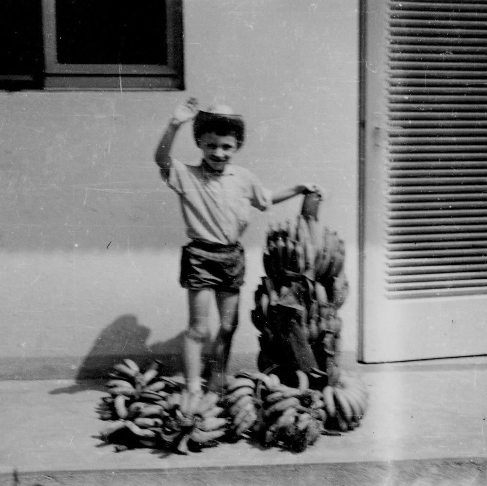 Chemin de cécité enfant au régime de bananes René Tanguy