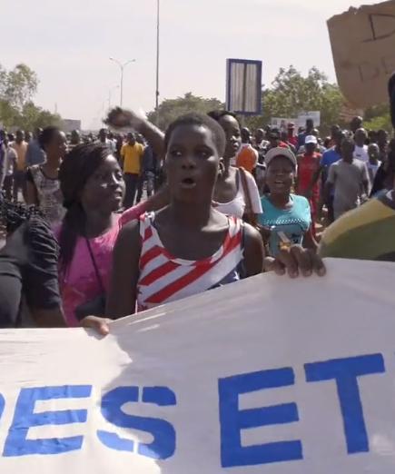 Manifestation etudiant Ouagadougou
