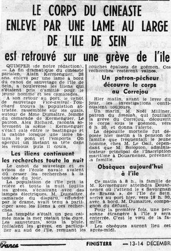 ouest-france article décès kaminker