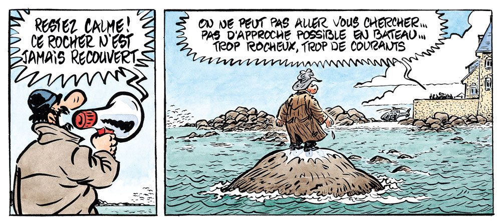 Palmer en Bretagne - ne bougez pas du rocher - BD René Pétillon