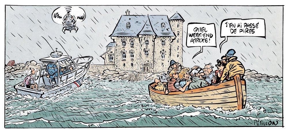 Palmer en Bretagne - pire weekend - BD René Pétillon
