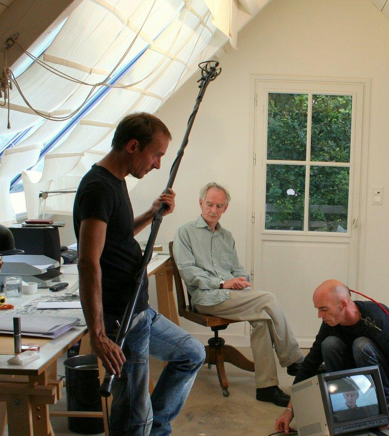 René Pétillon tournage enquête à l'ouest ©Pierre Jambou