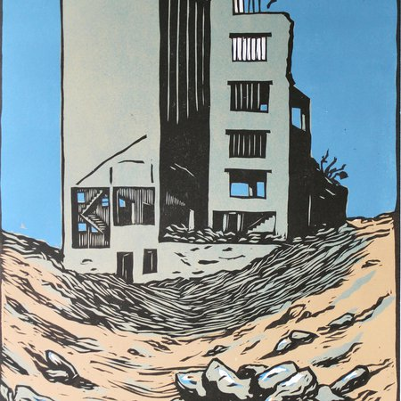 Face d'immeuble démoli - Déconstruction Silo Guyomarc'h - JB Cautain 2016