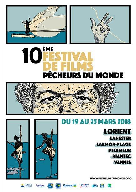 affiche festival pêcheurs du monde Lorient