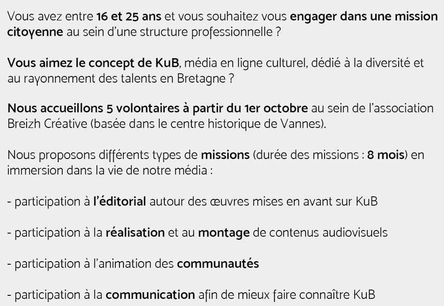 Annonce missions service civique