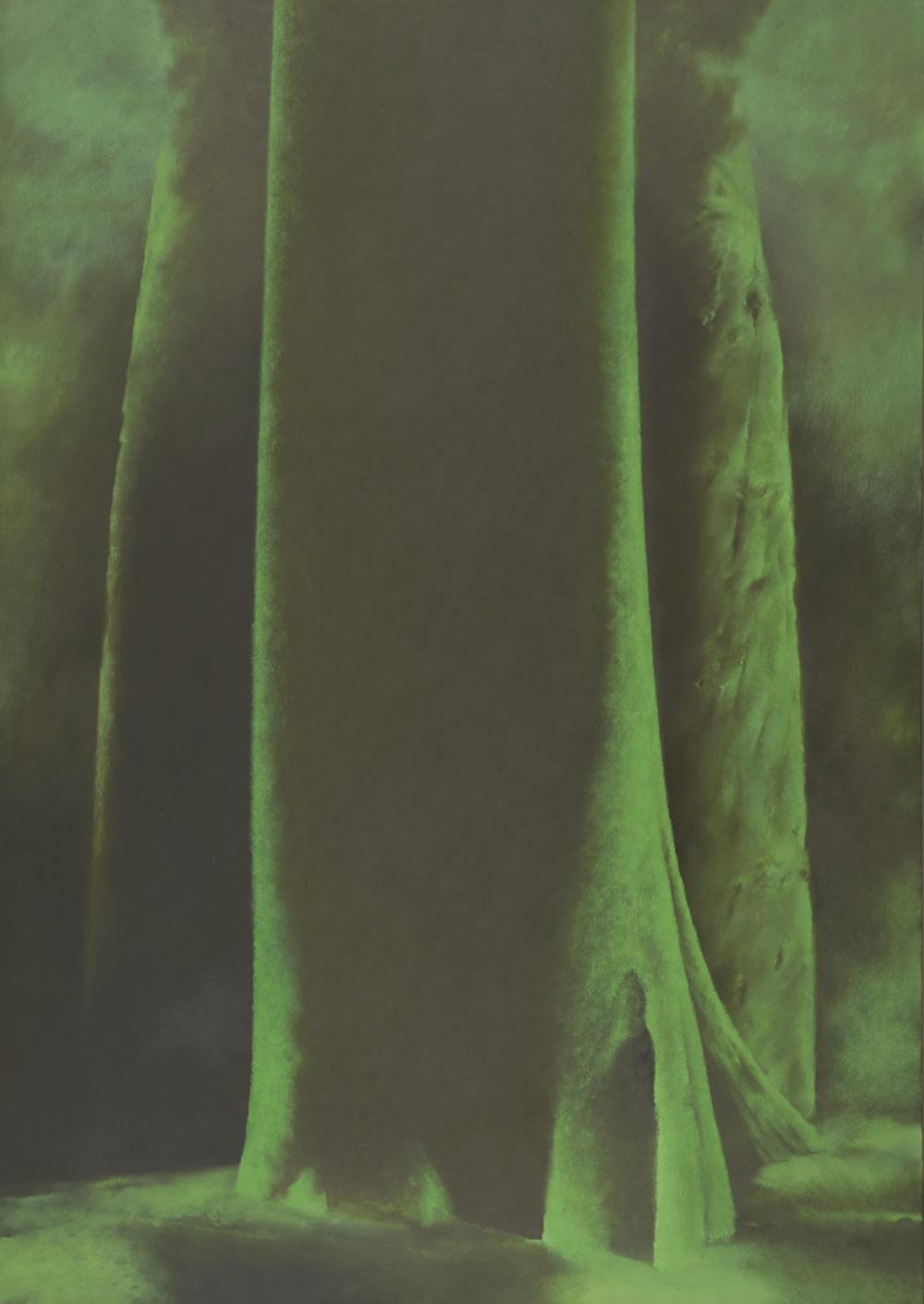 Tryptique arbre au centre / J Le Brusq © Musées de Vannes