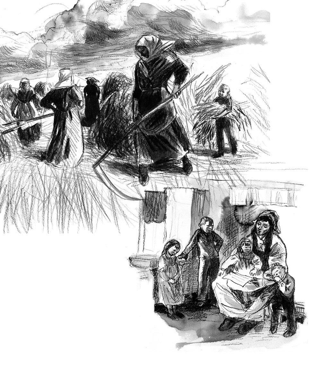 dessin archives de guerre, composition Jeanne ©GaeleFlao