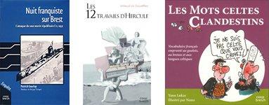ouvrages à gagner coop breizh : 12 travails d'hercule, Les mots celtes clandestins, Nuit franquiste sur Brest