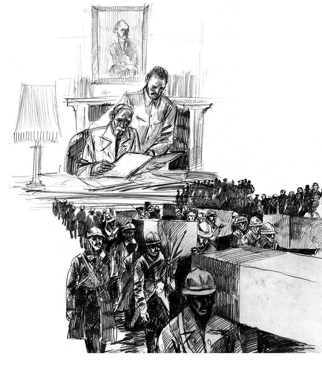 dessin du maire - archives grande guerre ©Gaele Flao