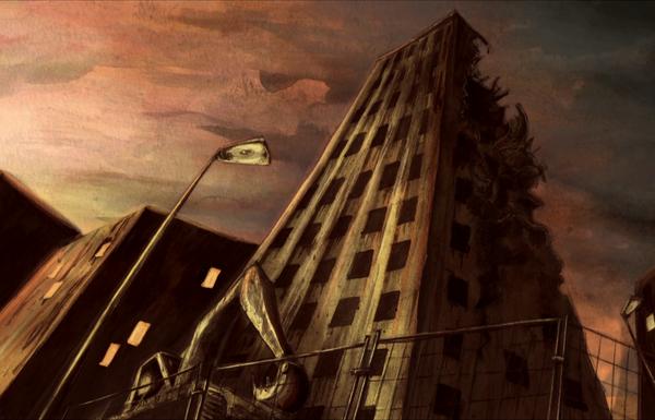 Destruction de tour - La maison de poussière