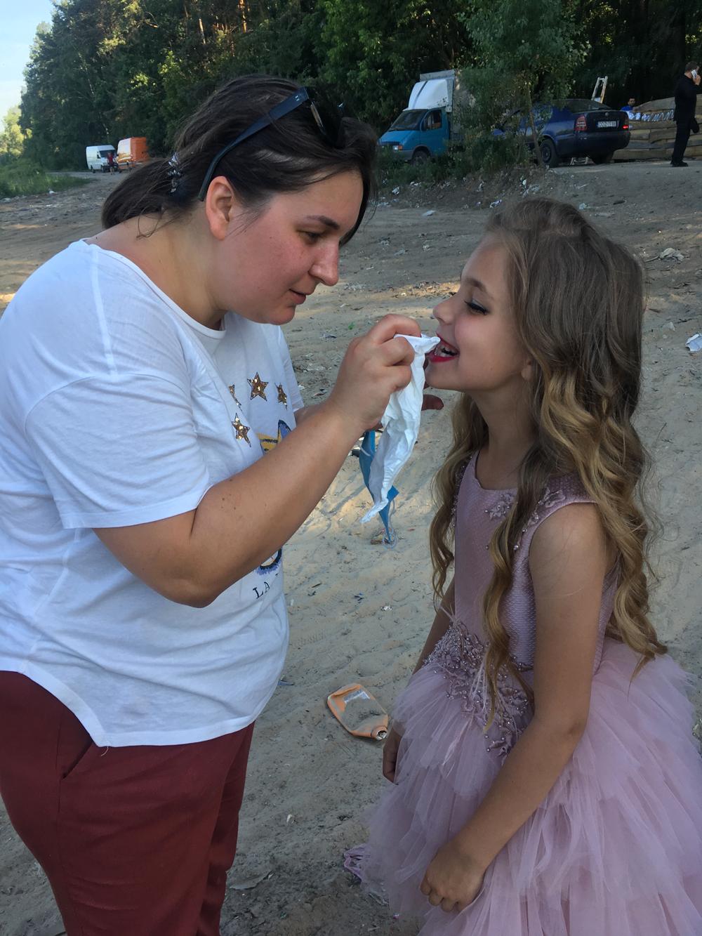 maquillage sur le tournage - viki al cheikh mat