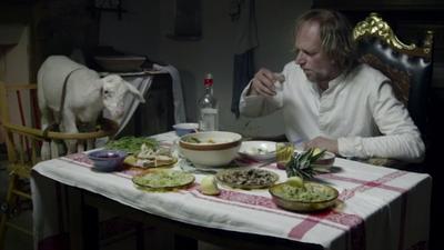 repas entre polonais et sa chèvre - FOG