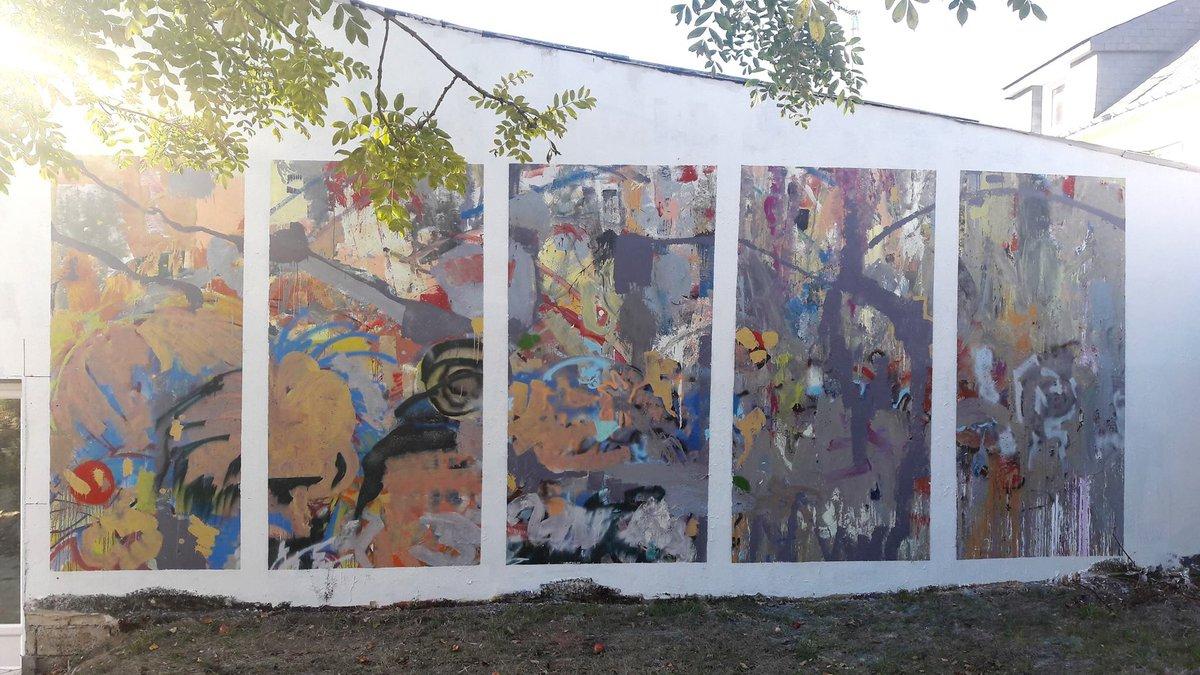 réalisation peinture murale à la villa gregam