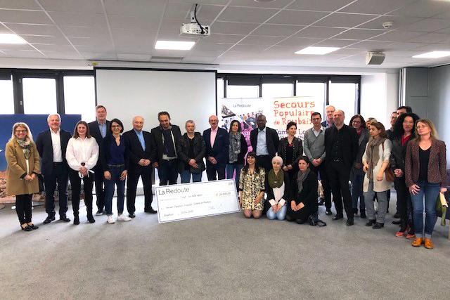 La Redoute reverse 26 000 € au Comité de Roubaix du Secours Populaire Français