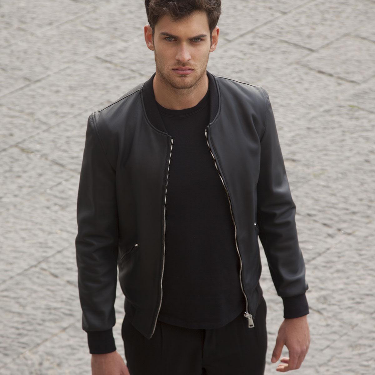 Linda Raff Collection -Jacket XUL SOLAR real leather Black