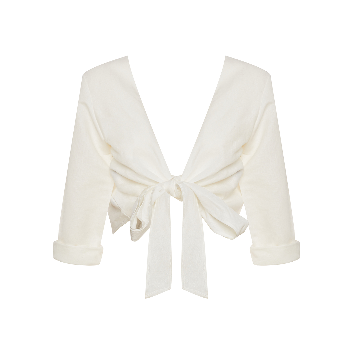 Linda Raff Collection -TOP CORN WHITE LINEN