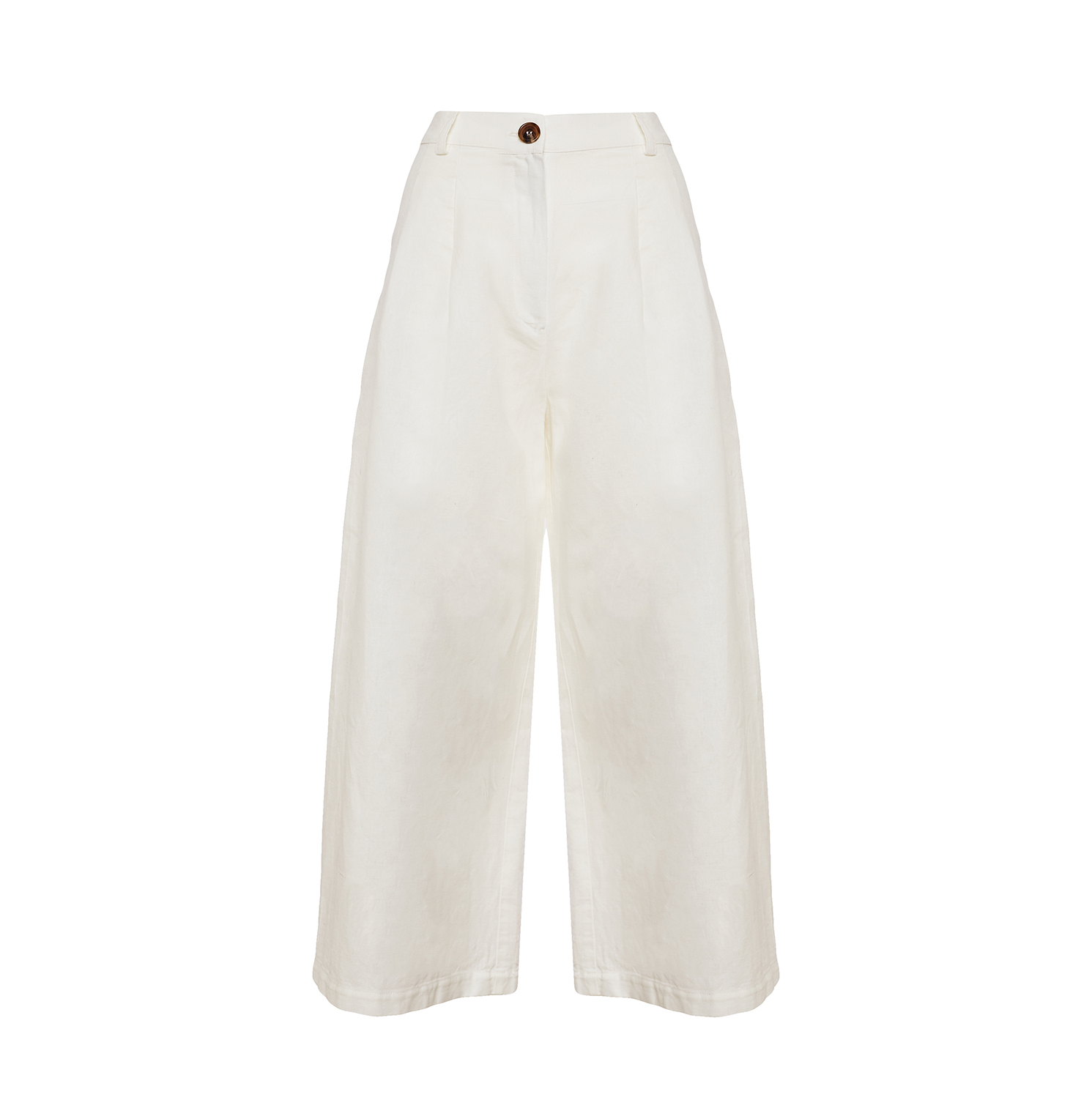 Linda Raff Collection -Beach Pants CORN White Linen