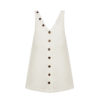 Linda Raff Collection -MINI DRESS CORN WHITE LINEN