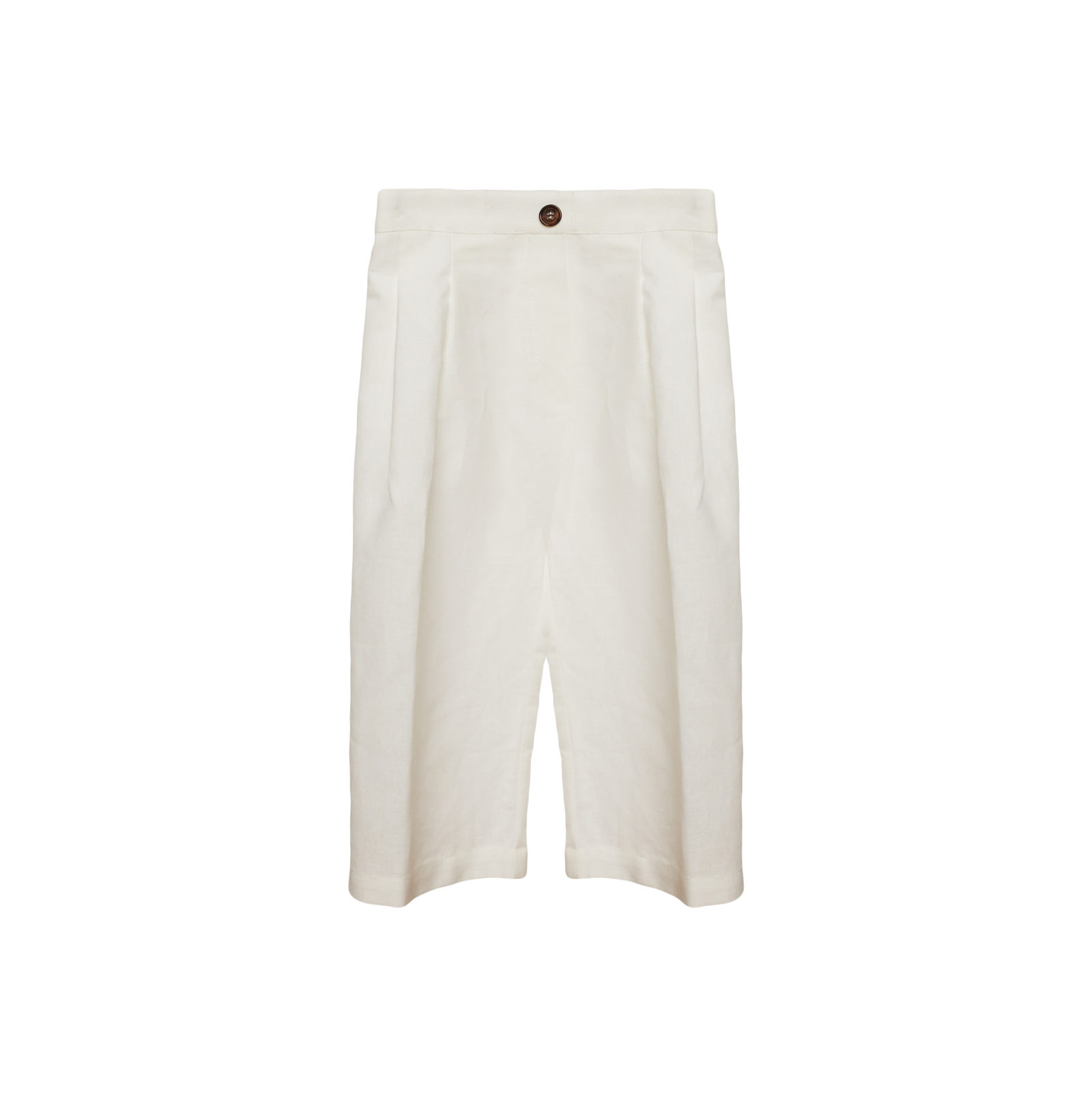Linda Raff Collection -PANTS CORN KIDS WHITE LINEN