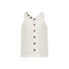 Linda Raff Collection -DRESS CORN KIDS WHITE LINEN