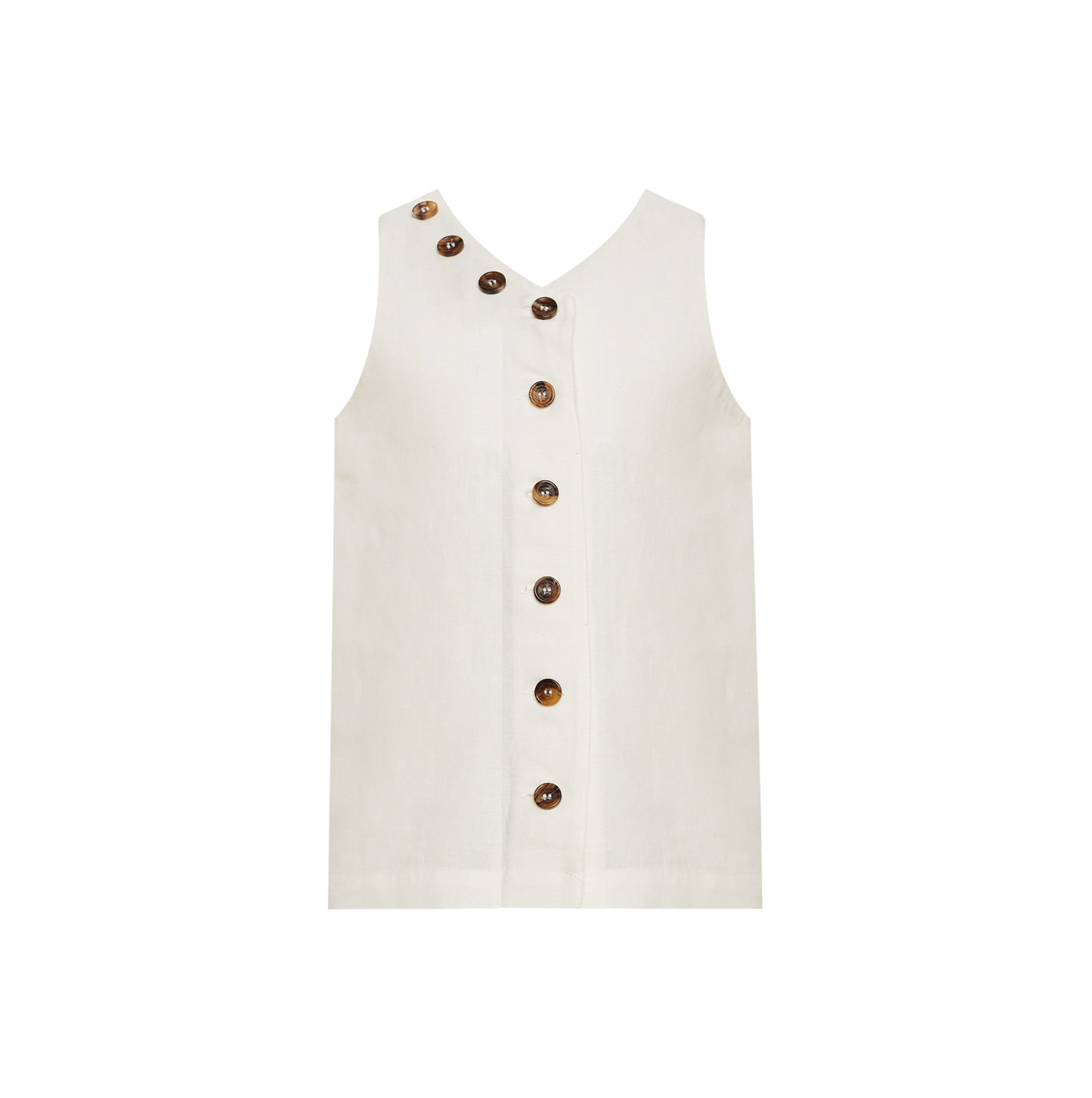 Linda Raff Collection -Dress CORN KIDS White Linen