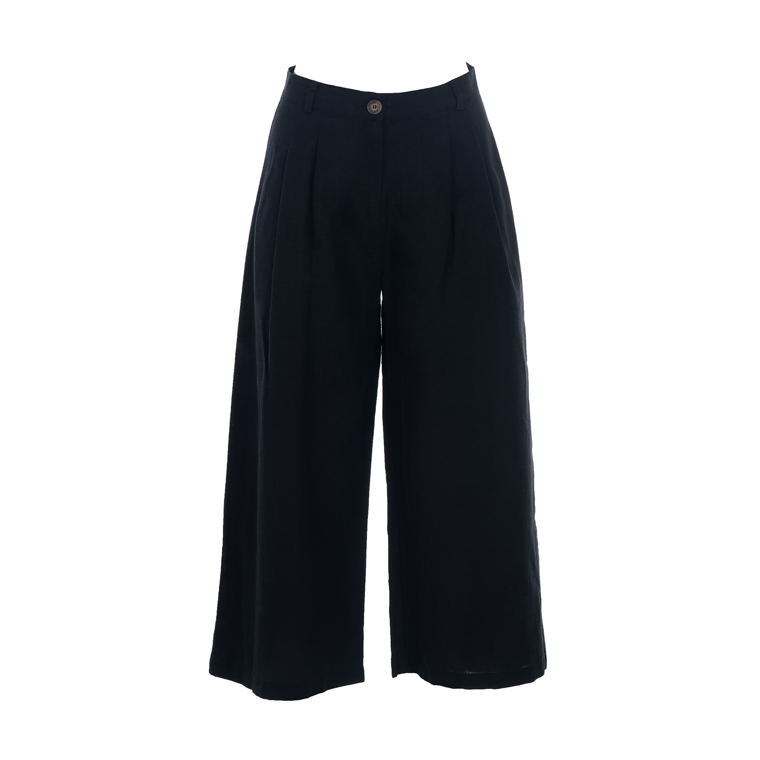 Linda Raff Collection -BEACH PANTS CORN BLACK LINEN