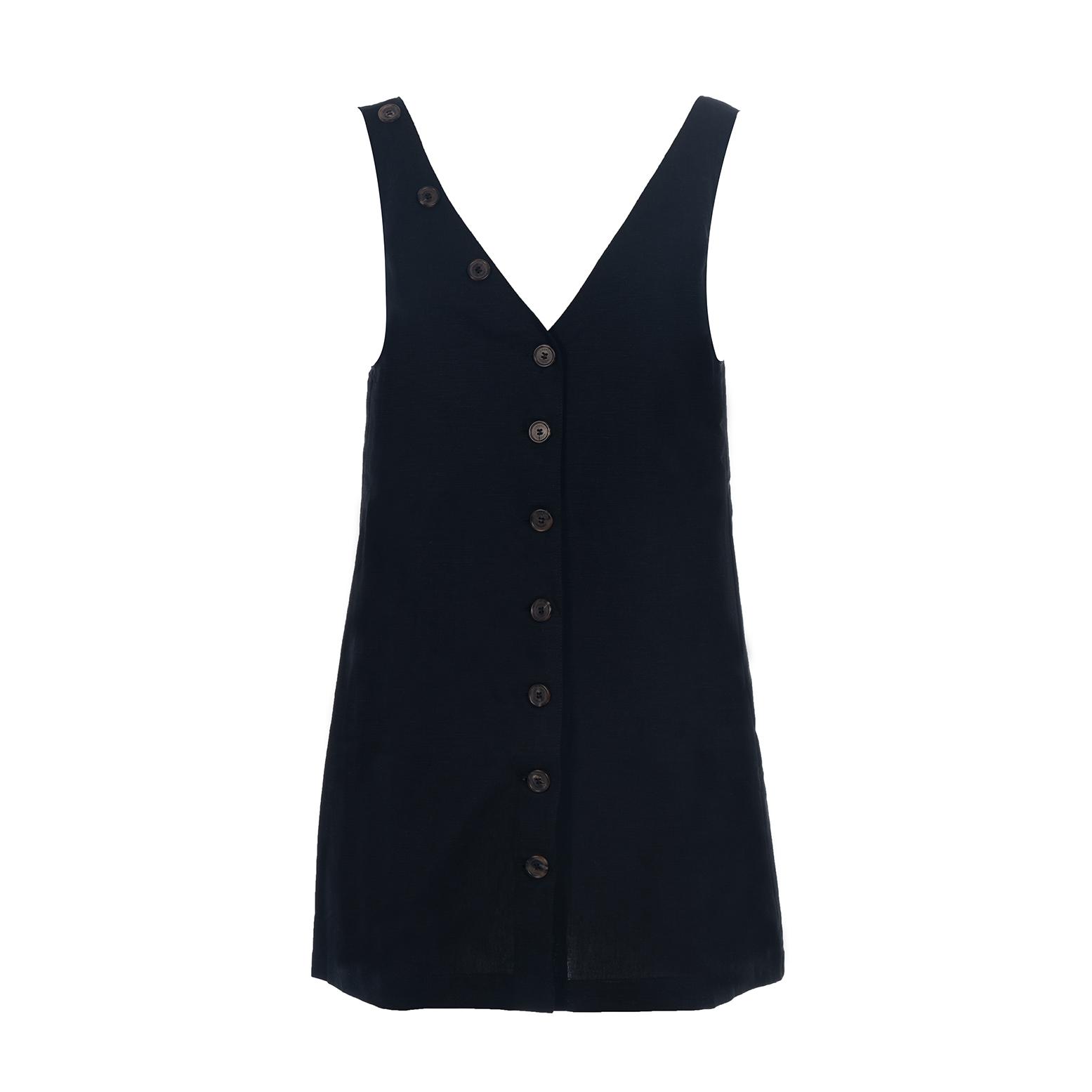 Linda Raff Collection -CORN MINI DRESS BLACK