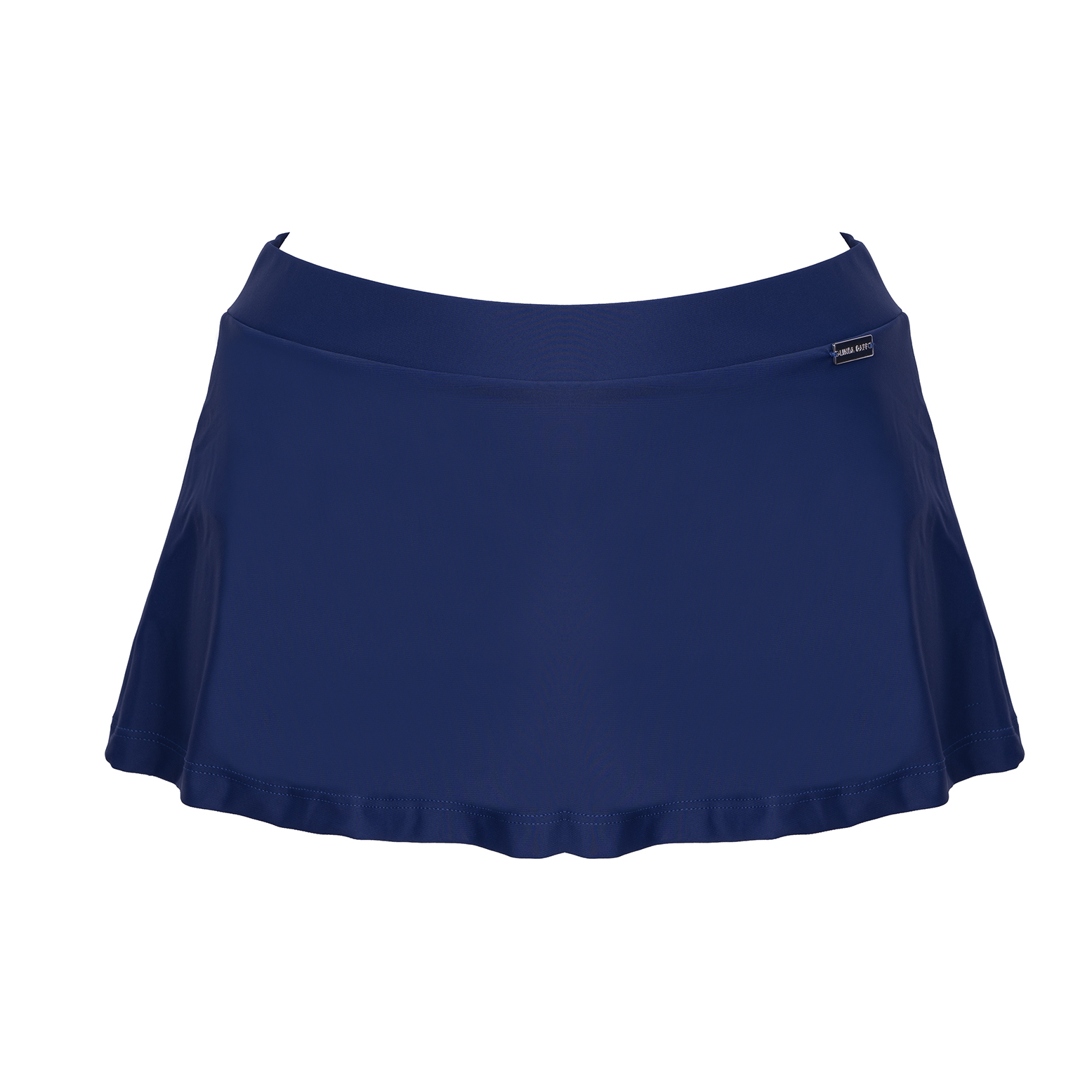 Linda Raff Collection -SLIP SKIRT ECO BLUEBERRY