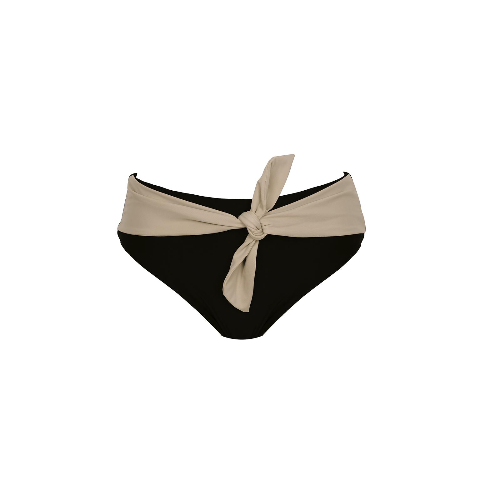 Linda Raff Collection -SLIP BELT ECO BLACK & NUDE