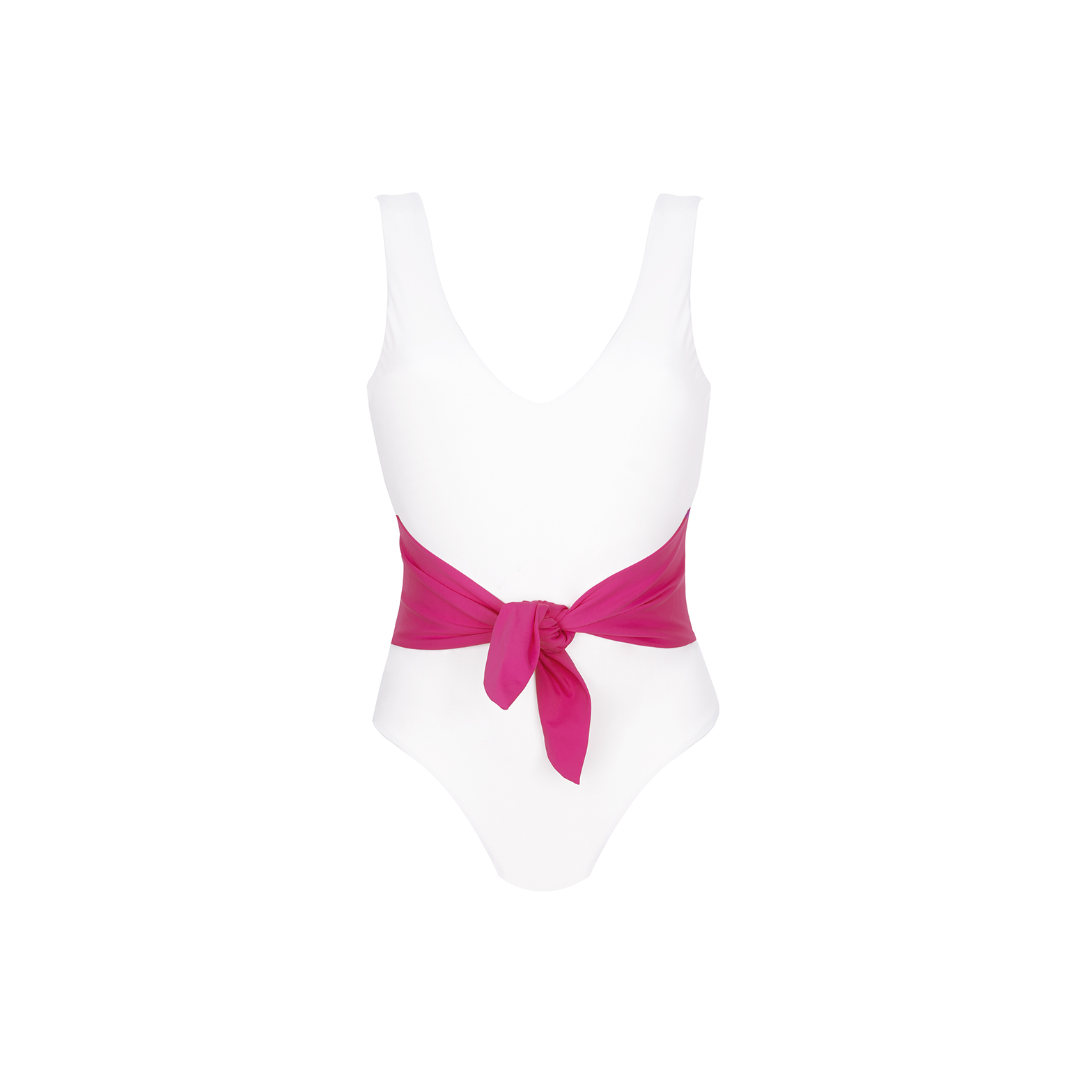 Linda Raff Collection -ONE-PIECE BELT ECO AVORIO & MAGENTA
