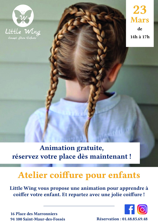 Prochain événement : Atelier coiffure COMPLET 😍