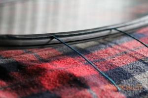Gros plan sur la jointure de la corde
