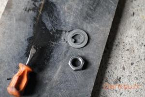 rondelle d'appui et écrou de serrage