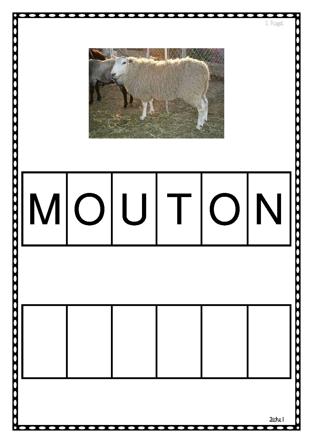 Découvrir l'écrit avec les animaux.