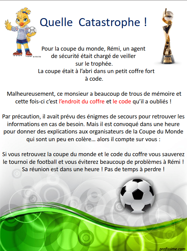 Escape Game - Coupe du Monde féminine 2019